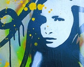 "POP ART - Original Contemporary Mixed Media Abstract Painting - Wood - 12"" x 12"" - Daniel Tacker"