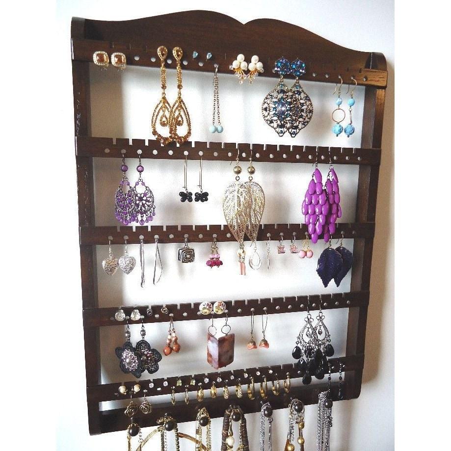 Jewelry Organizer Wall Earring Holder Necklace Organizer Jewelry Storage Wall