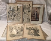 Turn of the Century Ladies Fashion Illunstrations 10 pc Lot