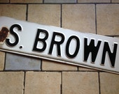 S. Brown Enamel Street Sign