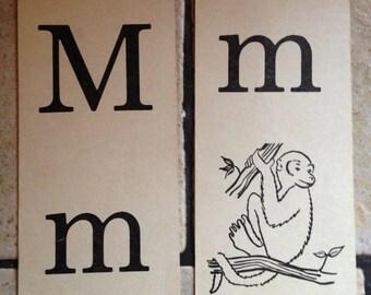 Mm monkey Phonics Teaching Cards
