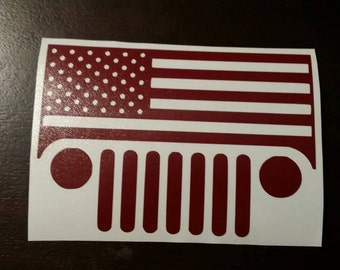 USA jeep Vinyl Decal Car Sticker