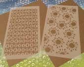 2 small stencils - Retro patterns