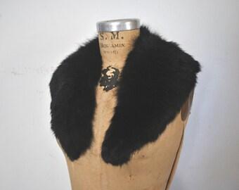 Fox Fur Collar / BLACK
