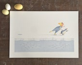 Flora and the Penguin- Skating- Limited Edition Signed Print