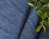 """C710  antique handloomed lin """"DEEP SEA"""" BLUE rural; 13.116y 17.32inches ; upholstery fabric"""