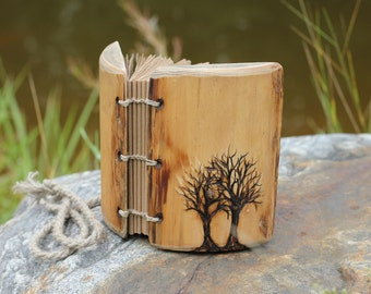 Wedding guest book two Trees of Life wood rustic wedding guest book bridal shower engagement anniversary