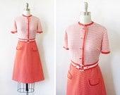 60s mod dress, vintage orange mod scooter dress, 1960s dress