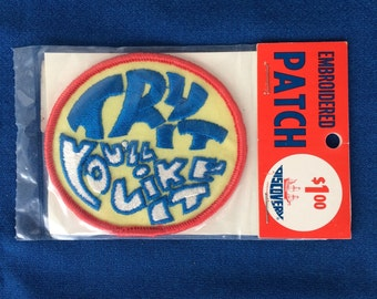 Vintage Try It You'll Life It Embroidered Patch Mint in Package 60's 70's for Hats, Jeans, Jackets, Tote, Bags, Clothing
