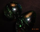Twisted Dark Green Kegel Ball and Egg Combo