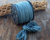 Denim Blue Faux Suede Leather Cord, 15 feet bundle (5 yards) / Microfiber, Vegan Suede, DIY Cord Supplies, Faux Suede Cord, Supplies