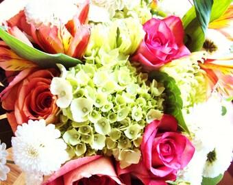 8x10 Photography Print - Wedding Bouquet/Rose/Hydrangea