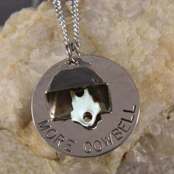 More Cowbell Necklace or Keychain