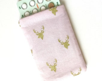 Pill Pack Birth Control Cozy - Tiny deer (pale pink)