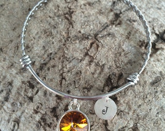 November Birthstone Bracelet, November Birthstone Jewelry, Topaz Bracelet, Topaz Jewelry, Christmas Gift, Topaz Stocking Stuffer