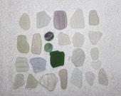 BEACHGLASS/SEAGLASS Genuine beachglass supplies seaglass supplies Relief Patterns Awesome Size/Shape/color plus Bonus Marble zy044