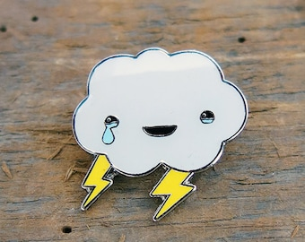 Happy Cloud Lapel Pin