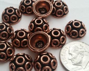 Copper bead caps