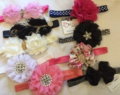 Super Sale...lot of 8 Girls Baby head bands bows flowers