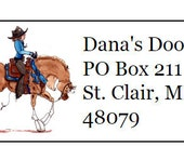 Arabian Pleasure Western Horse Silhouette Return Address Labels -120 labels