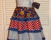One of a Kind Sundress in Blue and Red Size 4