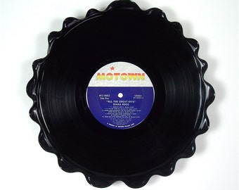 Diana Ross Vinyl Record Tray / Platter Vintage LP Album 1981 (All The Great Hits) Blue Motown Label