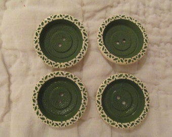 Vintage Buttons Nice Style lot of 4
