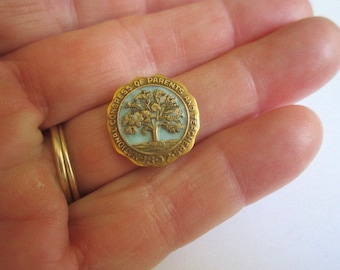 Antique Dated 1897 Blue Enamel Gold National Congress of Parents and Teachers Pin