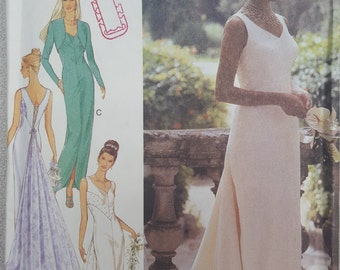 Formal Prom Wedding column Dress optional Train Jacket multisize Style 2804