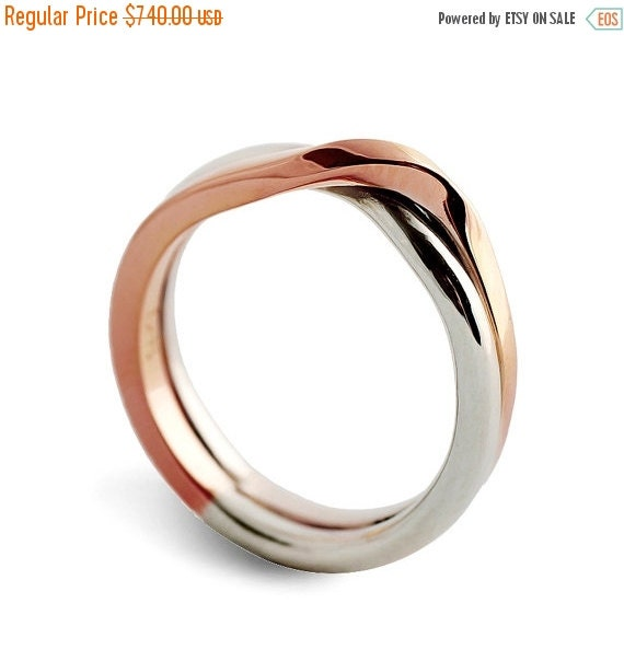 HOLIDAYS SALE LOVE Knot White And Rose Gold Wedding By Arosha