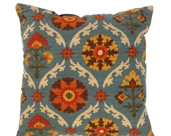 Floral Throw Pillow  - Mayan Medallion Adobe Decorative Pillow Free Shipping