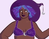 SANAA Halloween 2015 Space Witch Paper Doll PRINT