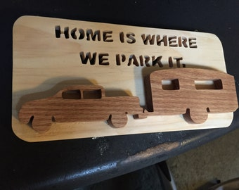 Home is where we park it wall hanging