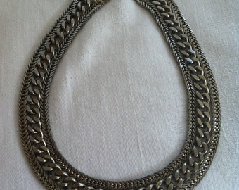 SALE- Vintage Triple Chain Necklace from Barneche/Stephanie Barnes