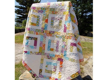 "Quilt Pattern - PDF INSTANT DOWNLOAD - Iphigenes Walk Jelly Roll Quilt Pattern 72"" x 72"""