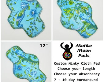 CUSTOM Minky Cloth Pad ~ MotherMoonPads Pantyliner, Moderate, Heavy, or PostPartum Pad ~ Cloth Menstrual Pad ~ Custom Pad ~ Windpro Fleece
