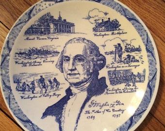 George washington plate - vernon kilns