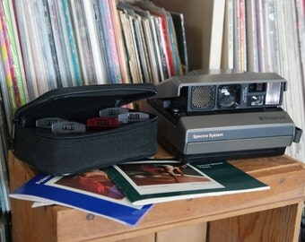 1980's Polaroid Spectra System Camera with Instructions & Special Effects Filter Set