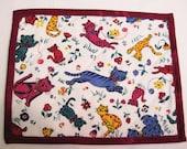 Mug rug  mini placemat Cats snack mat