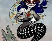 day of the dead mermaid w fast shipping