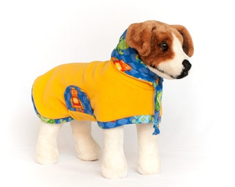 Beep Boop Bop: Dog Fleece, Dog Fleece Coat, Dog Coat for Winter, Dog Coat with Snood, Big Dog Coat