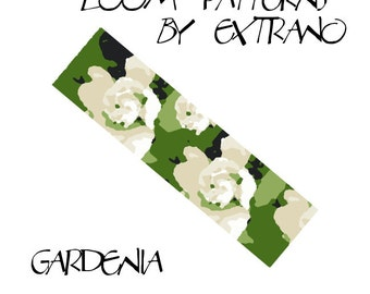 Loom bracelet pattern - GARDENIA - 6 colors only - Instant download