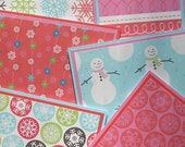 Blank Notecard Set - 6 Different Cards with Matching Embellished Envelopes - Girly Winter