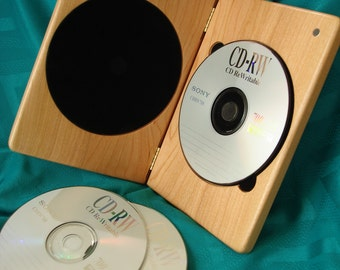 DVDCase,Alder,SingleDVDCase,DVD,CD,Wood,Engraved,Personalized Engraving