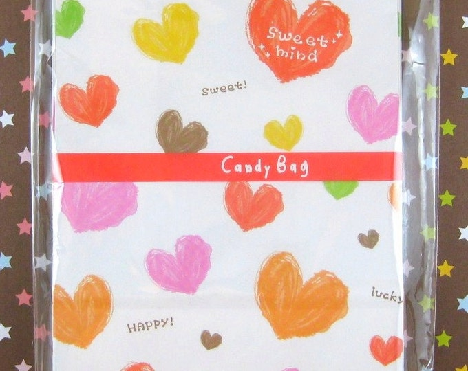 Colorful Hearts Paper Bags