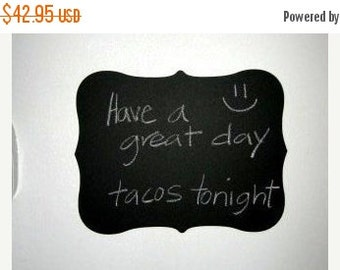 SALE- Large Fancy Chalkboard Vinyl Decal, Just Peel and Stick for an Instant Chalkboard Surface