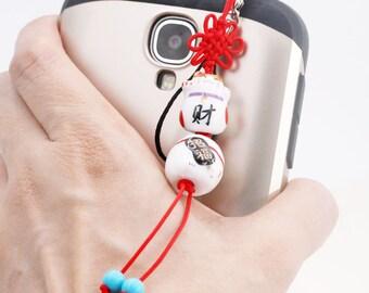 Maneki Neko phone charm/ dust plug (DP)