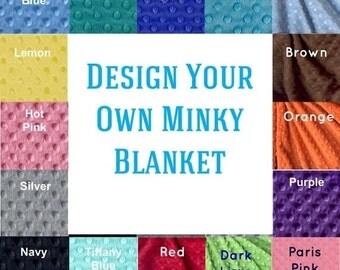 Toddler Blanket / 48 x 60 Custom Minky Baby Blanket Boy Girl, Personalized Blanket / Minky Blanket / Toddler Bedding