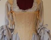 Save for ElindielForestStar Marie Antoinette Victorian inspired rococo costume chemise peasant dress hand dyed