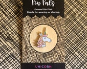 Unicorn Pin - Lapel Pin - Gold Enamel Pin - Shiny Gold Metal - Kawaii Flair Pin - Best Selling - Magical Unicorn - Pastel Unicorn - EP2080